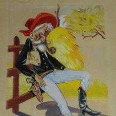 Cómics: (MS5) DIBUJO ORIGINAL DE MANFRED SOMMER , 32 X 23'5 CM , SEÑALES DE USO. Lote 136055582