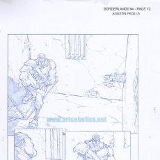 Cómics: PÁGINA ORIGINAL DE AGUSTÍN PADILLA: BORDERLANDS 4 PG 12. Lote 136643354