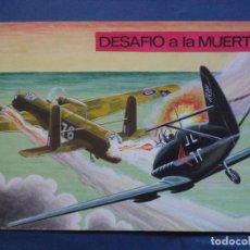 Cómics: ORIGINAL A TODO COLOR DE LA PÒRTADA DEL Nº 76 DE ESPIA SERIE METEORO FIRMADO SERRANO. Lote 137614310