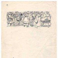 Cómics: DOS BOCETOS DE RIPOLL G. QUE SIRVIERON PARA PRESENTAR A LA EDITORIAL . Lote 137964134