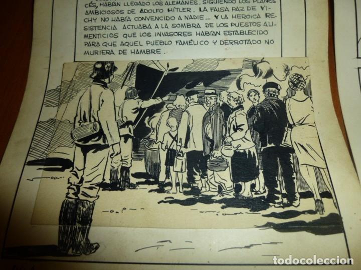 Cómics: dos años despues, originales de paginas interiores de novela grafica 2ª guerra mundial, ed. rollan - Foto 2 - 138304461