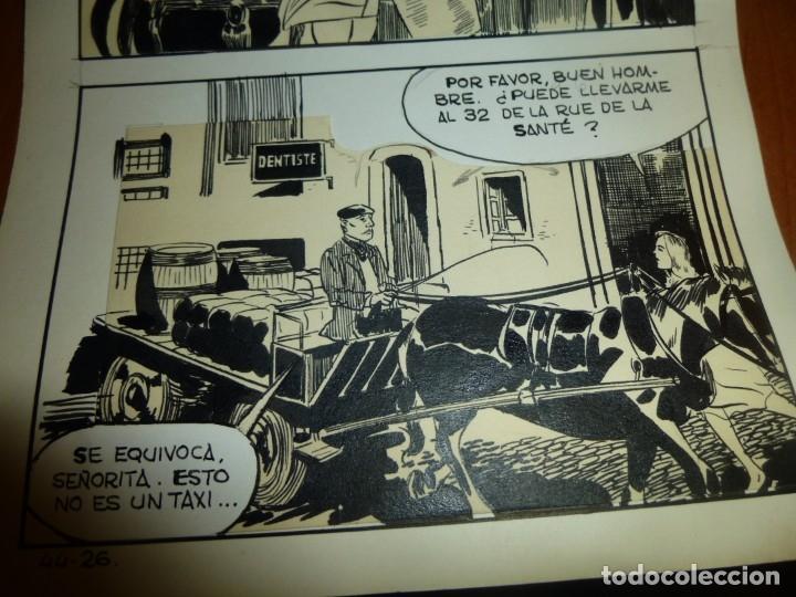 Cómics: dos años despues, originales de paginas interiores de novela grafica 2ª guerra mundial, ed. rollan - Foto 7 - 138304461