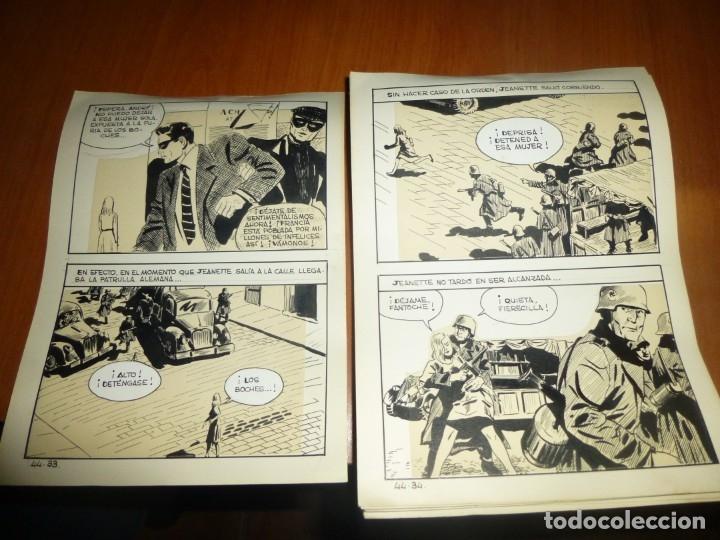 Cómics: dos años despues, originales de paginas interiores de novela grafica 2ª guerra mundial, ed. rollan - Foto 9 - 138304461