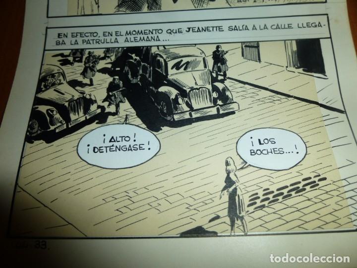 Cómics: dos años despues, originales de paginas interiores de novela grafica 2ª guerra mundial, ed. rollan - Foto 10 - 138304461