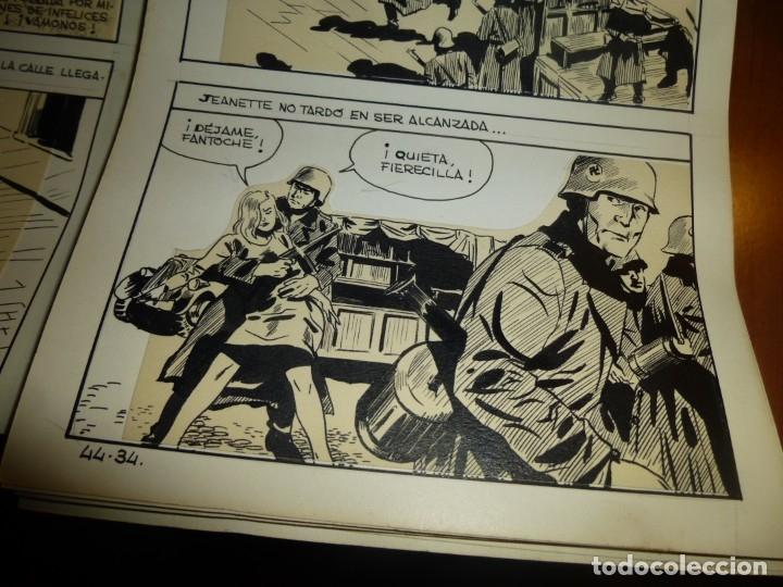 Cómics: dos años despues, originales de paginas interiores de novela grafica 2ª guerra mundial, ed. rollan - Foto 12 - 138304461