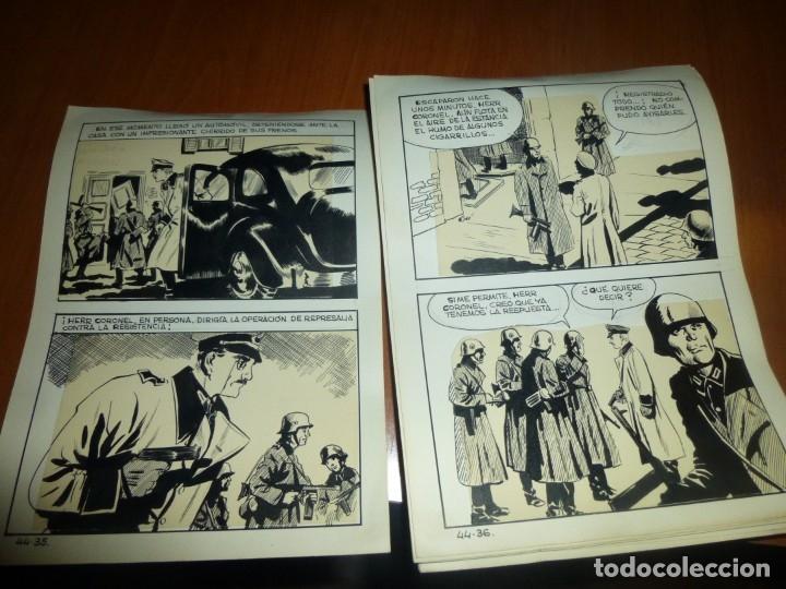Cómics: dos años despues, originales de paginas interiores de novela grafica 2ª guerra mundial, ed. rollan - Foto 13 - 138304461