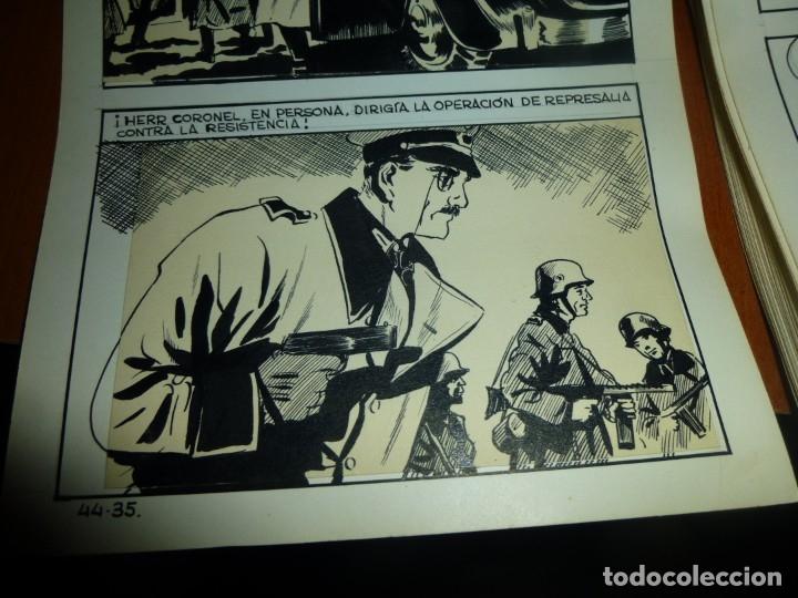 Cómics: dos años despues, originales de paginas interiores de novela grafica 2ª guerra mundial, ed. rollan - Foto 14 - 138304461