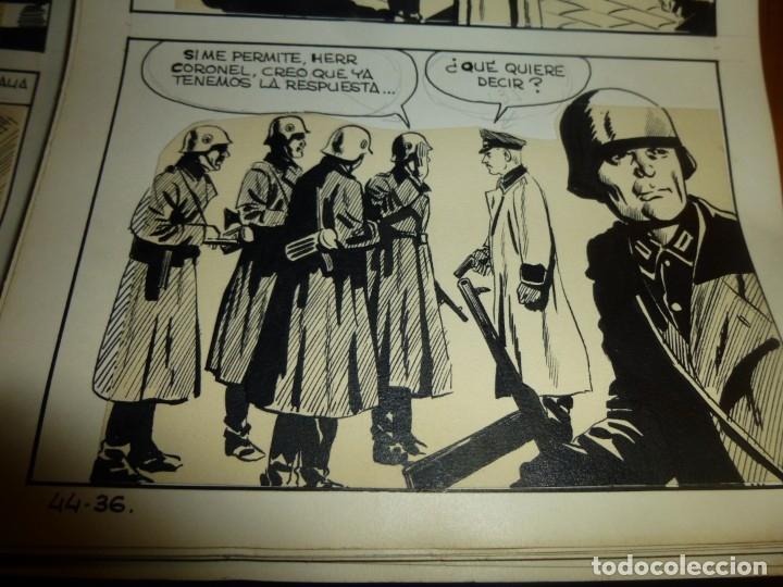 Cómics: dos años despues, originales de paginas interiores de novela grafica 2ª guerra mundial, ed. rollan - Foto 15 - 138304461