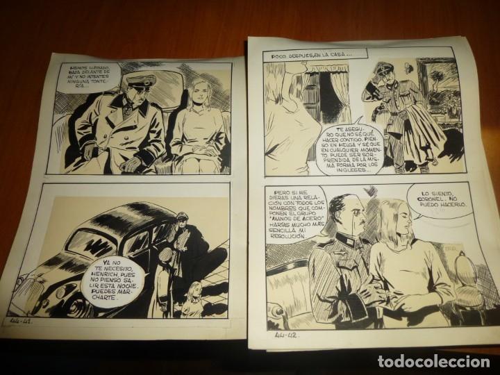 Cómics: dos años despues, originales de paginas interiores de novela grafica 2ª guerra mundial, ed. rollan - Foto 16 - 138304461