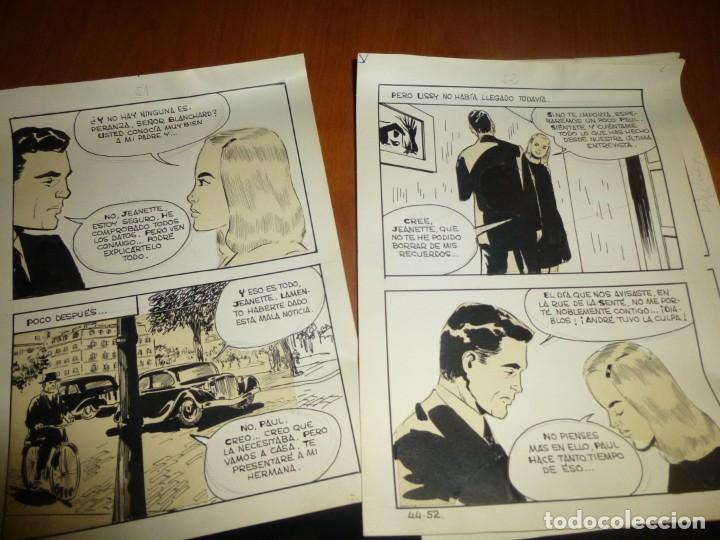 Cómics: dos años despues, originales de paginas interiores de novela grafica 2ª guerra mundial, ed. rollan - Foto 17 - 138304461