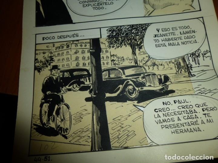 Cómics: dos años despues, originales de paginas interiores de novela grafica 2ª guerra mundial, ed. rollan - Foto 18 - 138304461