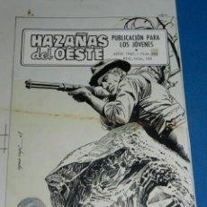 Cómics: (LE3) PORTADA ORIGINAL DE LOPEZ ESPI - HAZAÑAS DEL OESTE AÑO 1967 NUM 145 , EDT TORAY. Lote 138574434