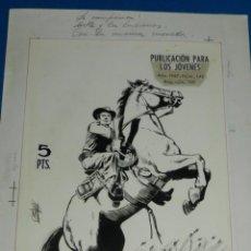 Cómics: (AM1) PORTADA ORIGINAL DE ANTONIO MAS - HAZAÑAS DEL OESTE 1967 NUM 142 , EDT TORAY . Lote 138576442
