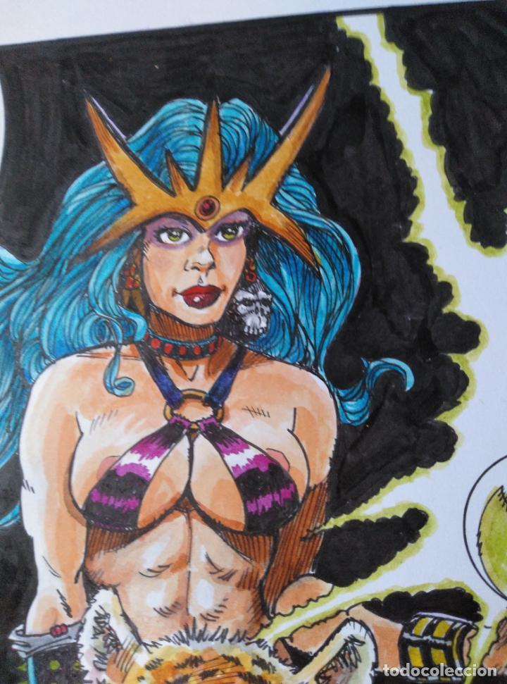 Cómics: FELIX QUEEN - DIBUJO ORIGINAL A TINTA, FIRMADO. 42 X 30 cm. - Foto 5 - 138795014