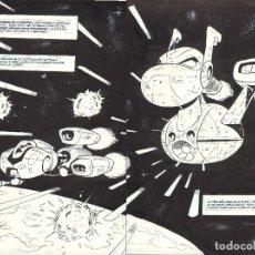 Cómics: PÁGINA DOBLE ORIGINAL DE NACHO FERNÁNDEZ: STARHOUNDS Nº 0 PG 2-3. Lote 138823730