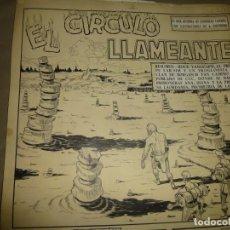 Cómics: 13 PAGINAS ORIGINALES DE ROCK VANGUARD, AUTOR ANTONIO GUERRERO, EL Nº 3 EL CIRCULO LLAMEANTE. Lote 139015318