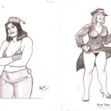 Fumetti: DOS DIBUJOS ORIGINALES DE ANTONIO PÉREZ GARCÍA - CARRILLO. Lote 139208822