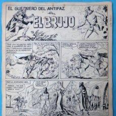 Cómics: DIBUJO ORIGINAL PLUMILLA, GUERRERO DEL ANTIFAZ , EL BRUJO , 1973 , 9 HOJAS , M4. Lote 139464390