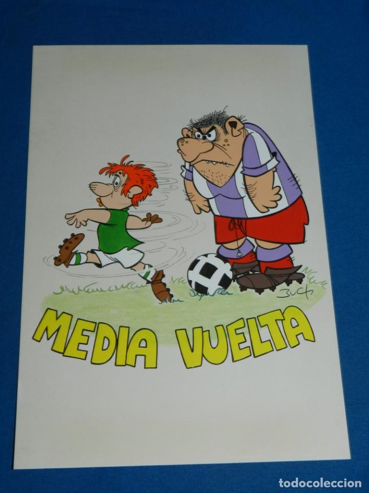 (B1) DIBUJO ORIGINAL DE BUCH - FUTBOL MEDIA VUELTA , 31 X 21'5 CM, BUEN ESTADO (Tebeos y Comics - Art Comic)