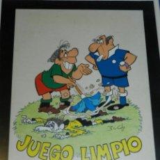 Cómics: (B4) DIBUJO ORIGINAL DE BUCH - FUTBOL JUEGO LIMPIO , 31 X 21'5 CM, BUEN ESTADO. Lote 139859466