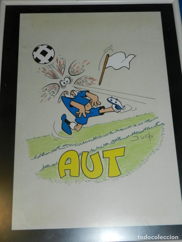 (B6) DIBUJO ORIGINAL DE BUCH - FUTBOL AUT , 31 X 21'5 CM, BUEN ESTADO (Tebeos y Comics - Art Comic)