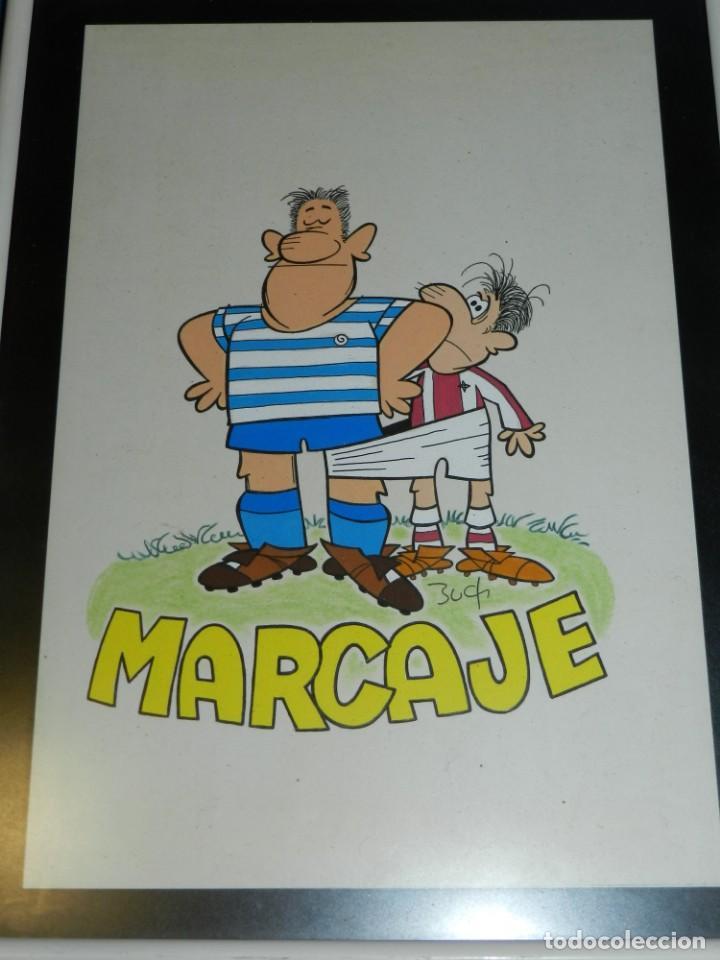 (B7) DIBUJO ORIGINAL DE BUCH - FUTBOL MARCAJE , 31 X 21'5 CM, BUEN ESTADO (Tebeos y Comics - Art Comic)