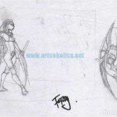 Cómics: PÁGINA ORIGINAL DE PASQUAL FERRY MARVEL COMICS: CIVIL WAR MOCKINGBIRD PRELIMINAR DE PORTADA. Lote 140127186
