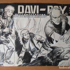Cómics: DAVI ROY, PORTADA DEL Nº19. PLANCHAS ORIGINALES. Lote 140646002