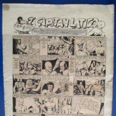 Cómics: EL CAPITÁN LÁTIGO, COMPLETA: 33 PÁGINAS. JOSÉ GRAU 1944 ( REVISTA SOS 1947). PLANCHAS ORIGINALES.. Lote 140856018