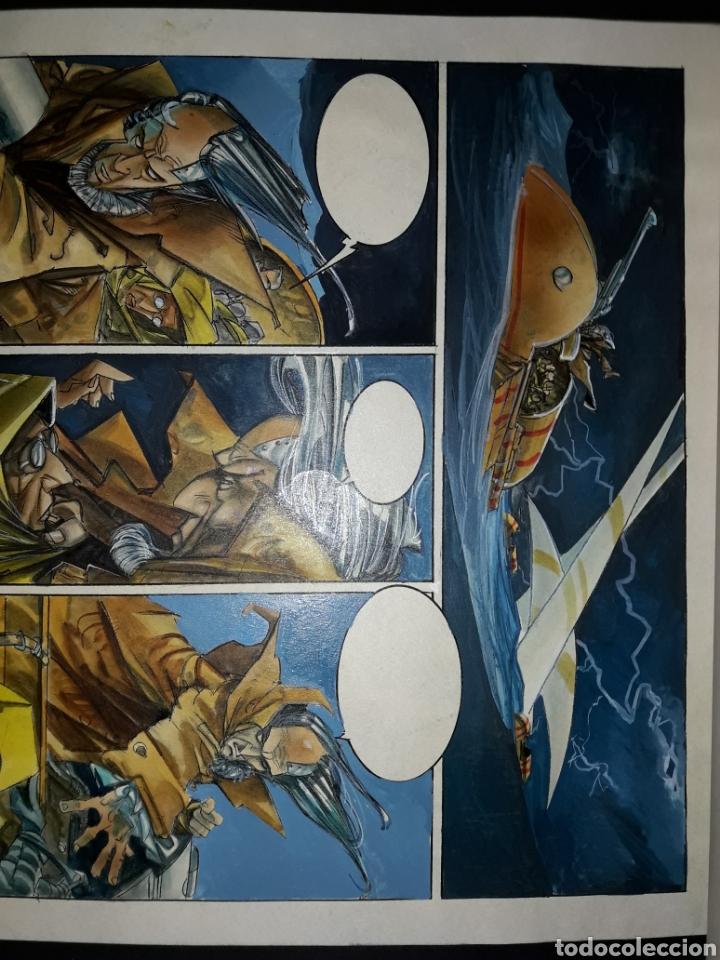Cómics: Página original de Lorna Leviatán de Alfonso Azpiri - Foto 2 - 140860397