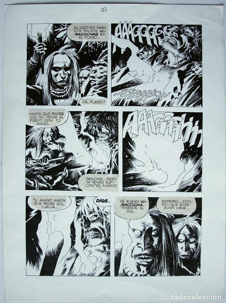 PÁGINA ORIGINAL DE ENRIQUE BRECCIA (Tebeos y Comics - Art Comic)