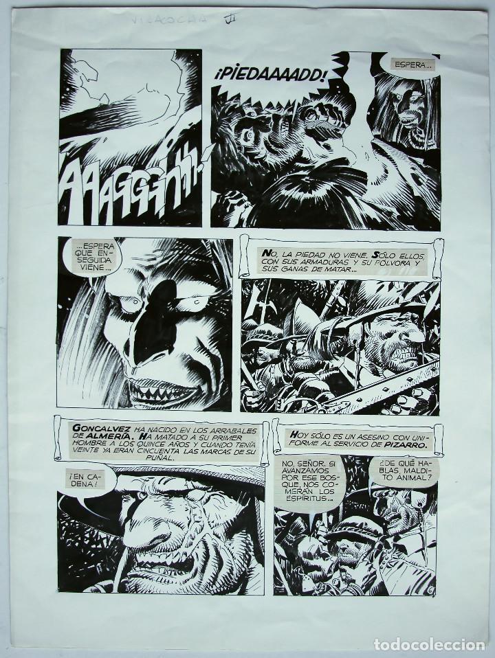 ENRIQUE BRECCIA PÁGINA ORIGINAL (Tebeos y Comics - Art Comic)
