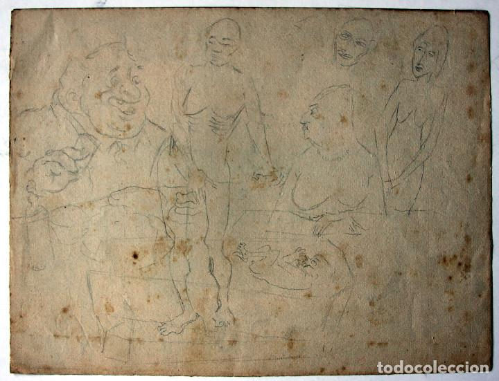 Cómics: ALBERTO BRECCIA, DIBUJO ORIGINAL 1944 - Foto 2 - 141508098