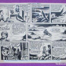 Cómics: DIBUJO ORIGINAL PLUMILLA, EL HIJO DE LA JUNGLA, JUEGO SUCIO, 1 HOJA, S11. Lote 141912918