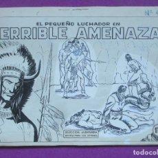 Cómics: DIBUJO ORIGINAL PLUMILLA, EL PEQUEÑO LUCHADOR, TERRIBLE AMENAZA, Nº44, PORTADA, 1 HOJA, S14. Lote 141913158