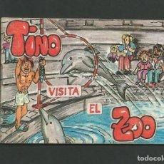 Cómics: CUENTOS DE TINO Nº 7 - TINO VISITA EL ZOO - GRAFICAS RIGEL - AVILES - ASTURIAS. Lote 143878114