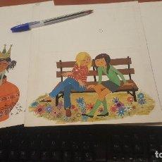 Cómics: DIBUJOS ORIGINALES DEL TOMO 1 DE ANTOÑITA LA FANTASTICA, DE MARIA TERESA G. ZORRILLA, SIN FIRMAR. Lote 143899116