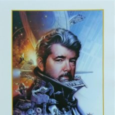 Cómics: LÁMINA STAR WARS FIRMADA DE TSUNEO SANDA: GEORGE LUCAS DREAM MAKER 146/250 CELEBRATION EUROPE 2013. Lote 144863914