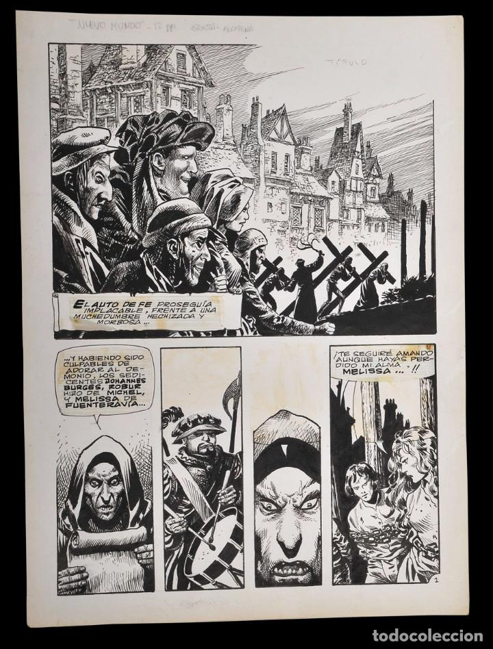 ENRIQUE ALCATENA - PAGINA ORIGINAL (Tebeos y Comics - Art Comic)