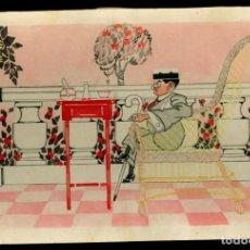 Cómics: DIBUJO - PUIG - 1916 - TINTA Y ACUARELA . Lote 145474258