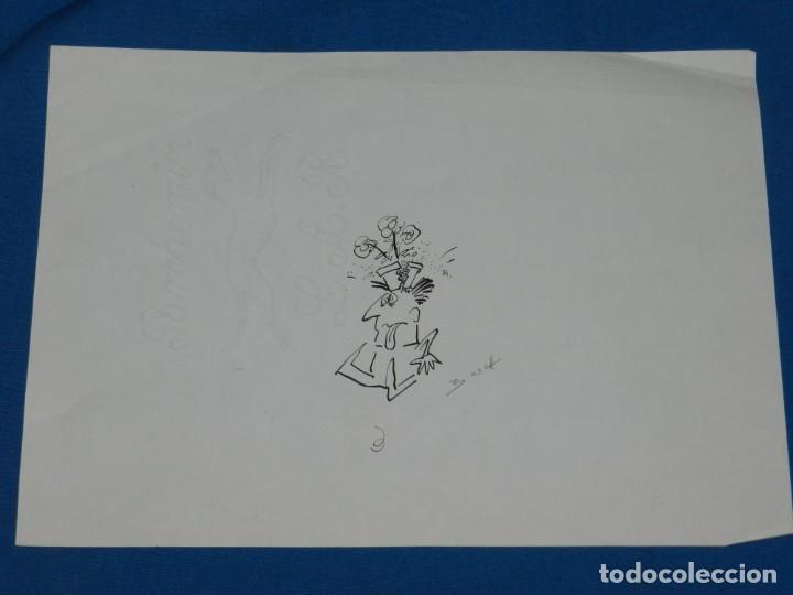 Cómics: (BH11) DIBUJO ORIGINAL DE BOSCH , 30 X 21 CM, BUEN ESTADO - Foto 2 - 145619590