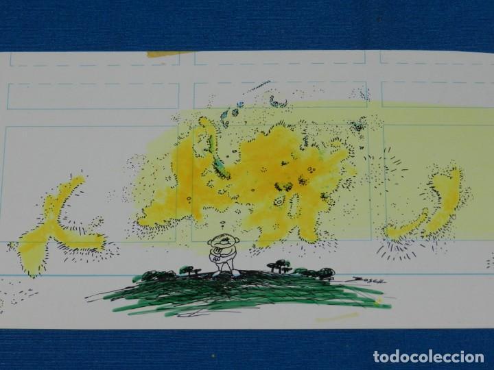 (BH13) DIBUJO ORIGINAL DE BOSCH , 28 X 11 CM, BUEN ESTADO (Tebeos y Comics - Art Comic)