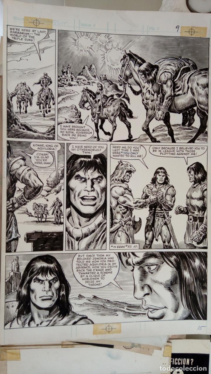SAVAGE SWORD OF CONAN NUMBER 104 PAGE 15 VAL MAYERIK Y ERNIE CHAN (Tebeos y Comics - Art Comic)