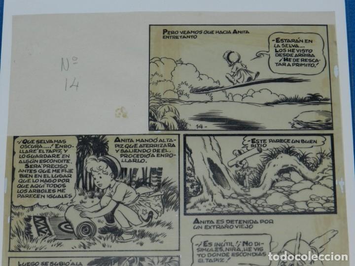 Cómics: (BD) DIBUJO ORIGINAL DE JESUS BLASCO - ANITA DIMINUTA , HISTORIA EMBLEMATICA AÑOS 40 - Foto 2 - 146568910
