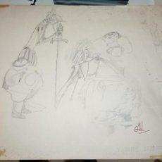 Cómics: JORGE GINÉS SOTERAS GIN. BARCELONA 1930-1996. ORIGINAL DON QUIJOTE SANCHO PANZA DULCINEA DEL TOBOSO . Lote 146761362