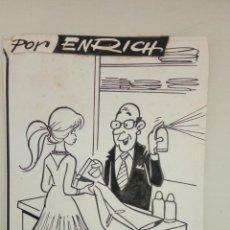 Cómics: ENRICH ORIGINAL REVERSO PORTADA ESTHER ESPECIAL MODAS TINTA. Lote 146769038