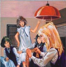 Cómics: PORTADA / PAGINA ORIGINAL DE AREDIT CATHY #194 FIRMADA (AUTOR BELLALTA). 1980.. Lote 146802345