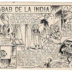 Cómics: DIBUJO ORIGINAL DE BATLLORI JOFRÉ: UN NABAB DE LA INDIA. Lote 147039974