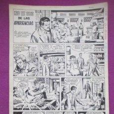 Cómics: DIBUJO ORIGINAL PLUMILLA, NO TE FIES DE LAS APARIENCIAS, 1967, 4 HOJAS. Lote 147948738