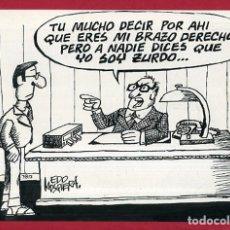 Fumetti: DIBUJO ORIGINAL PLUMILLA , EDO MOSQUERA EDGAR , VIÑETA COMICA GRANDE , ORIGINAL , M4B , 40. Lote 148653298